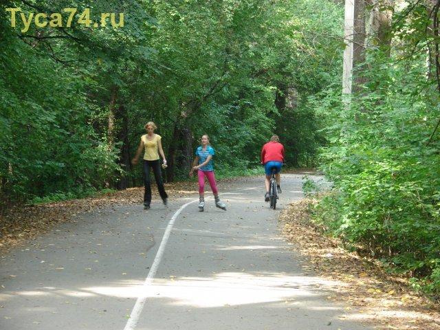Роллеры и велосипедисты - бок о бок!