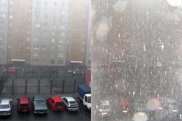 Дождь с градом 1 июля 2008 года